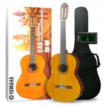 Yamaha C40 II Standard Pack - Klassisk gitarpakke med trekk og tuner