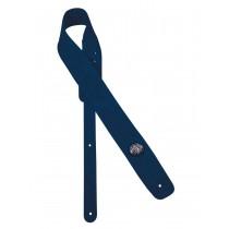 Gaucho GST-610-BU Padded Suede Series guitar strap, blue suede top, blue suede back