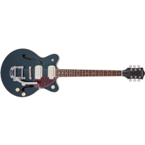 Gretsch G2655T-P90 Streamliner Center Block Jr. Double-Cut P90 with Bigsby, Laurel Fingerboard, Two-Tone Midnight Sapphire and Vintage Mahogany Stain