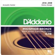 D'Addario EJ18 Phosphor Bronze .014-.059