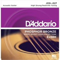 D'Addario EJ38H - Nashville/High Strung strengesett (.010-.027)