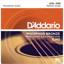 D'Addario EJ42 Phos.Bronze Resophonic (016-056)