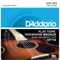 D'addario EFT16 - .012 Flat Tops  for ak.gitar
