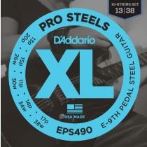 D'Addario EPS490 ProSteels, Pedal Steel Strings for E9-stemt Pedal Steel Guitar.