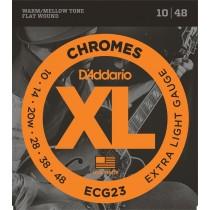 D'Addario ECG23 Chromes Extra Light 10-48w