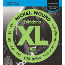 D'addario EXL165-5 Light/Long Scale basstrenger 045-135 5-strengs sett