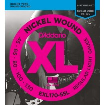 D'addario EXL170-5SL Light/Super Long Scale basstrenger 045-130 5-strengs sett