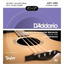 D'Addario Fretted EXPPBB190GS - Strenger til Taylor GS Mini ak. bass 037 - 090
