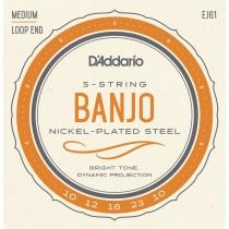 D'Addario J61 - Banjostrenger, 5 stk