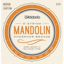 D'addario EJ74 Medium Mandolin .011-.040