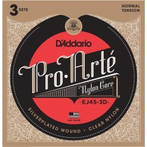 D'Addario Fretted EJ45-3D Normal (3-pack)