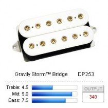DiMarzio Gravity Storm™ Bridge DP253FW - F-spaced - White