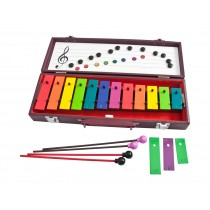 Adams Kids AGL-12BW Soprano klokkespill med 12 toner - C3 - G4 med kasse og køller