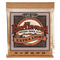Ernie Ball EB-2150 Earthwood Extra Light 10-50 Fosforbronse-strengesett