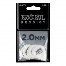 Ernie Ball EB-9202 PRODIGY-PICK-WH-1s 6-pack