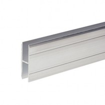 Adam Hall Hardware 6127 - Aluminium H-Section 10 mm for Joining large Panels - 2m lengde