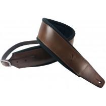 Profile FPB02 Pro Italian Leather Guitar Strap Dark Tan