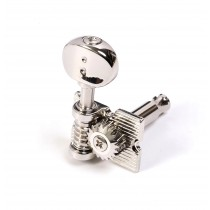 Graph Tech PRN-4624-N0 6 In Line Waffle-Back Vintage Fender Style Ratio Machine Heads (Nickel Finish)