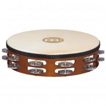 Meinl TAH-2-A-AB Wood Tamburin m/skinn, Dobbel, Aluminium(M)
