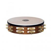 Meinl TAH-2-B-AB Wood Tamburin m/skinn, Dobbel, Brass (M)
