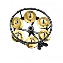 Meinl THH-1-B-BK Hi-Hat Tamburin, Brass, Black (M)