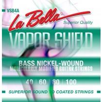 LaBella VSB4D Bass Set Bass Vapor Shield Nickel Plated 4 String 45 65 85 105. Strengesett.