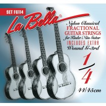 LaBella FG114 Classical Set Classical Fractional Guitar Size 1/4. Strengesett.