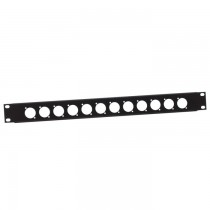 "Adam Hall - 19"" U-Shaped Rack Panel 12 Sockets 1 U"