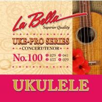 LaBella 100 Acoustic Folk Set Ukulele Pro Concert/Tenor. Strengesett.