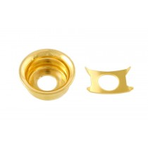 ALLPARTS AP-0275-002 Gold Input Cup Jackplate for Telecaster