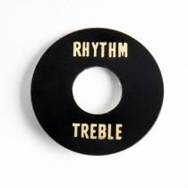 ALLPARTS AP-0663-023 Black Plastic Rhythm/Treble Ring