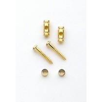ALLPARTS AP-0727-002 Gold Barrel String Guides
