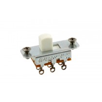 ALLPARTS EP-0260-025 Switchcraft White On-On Slide Switch