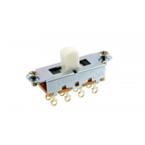 ALLPARTS EP-0261-025 Switchcraft White On-Off-On Slide Switch