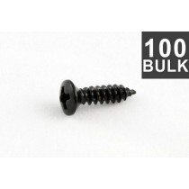 ALLPARTS GS-0001-B03 Bulk Pack of 100 Black Pickguard Screws