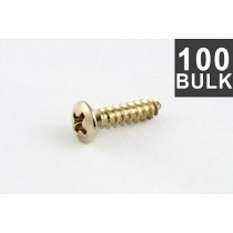 ALLPARTS GS-0001-B05 Bulk Pack of 100 Stainless Pickguard Screws