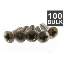 ALLPARTS GS-0001-B07 Bulk Pack of 100 Aged Nickel Pickguard Screws