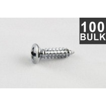 ALLPARTS GS-0001-B10 Bulk Pack of 100 Chrome Pickguard Screws