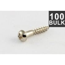 ALLPARTS GS-0006-B01 Bulk Pack of 100 Long Nickel Machine Head Screws