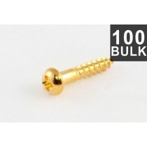 ALLPARTS GS-0006-B02 Bulk Pack of 100 Long Gold Machine Head Screws