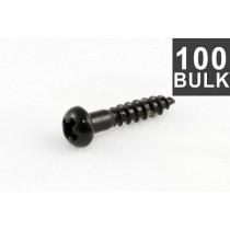 ALLPARTS GS-0006-B03 Bulk Pack of 100 Long Black Machine Head Screws