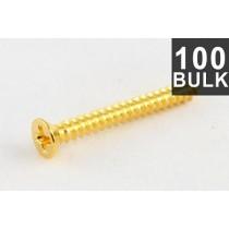 ALLPARTS GS-0008-B02 Bulk Pack of 100 Gold Humbucking Ring Screws