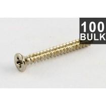 ALLPARTS GS-0008-B05 Bulk Pack of 100 Steel Stainless Humbucking Ring Screws