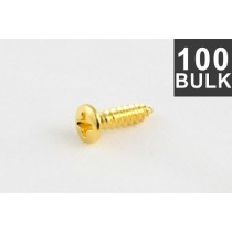 ALLPARTS GS-0050-B02 Bulk Pack of 100 Gold Gibson Size Pickguard Screws