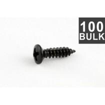 ALLPARTS GS-0050-B03 Bulk Pack of 100 Black Gibson Size Pickguard Screws