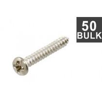 ALLPARTS GS-3364-B01 Bulk Pack Nickel 1-Inch Bridge Mounting Screws