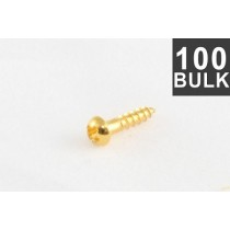 ALLPARTS GS-3376-B02 Bulk Pack of 100 Gold Small Tuner Screws