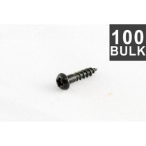 ALLPARTS GS-3376-B03 Bulk Pack of 100 Black Small Tuner Screws