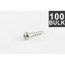 ALLPARTS GS-3376-B10 Bulk Pack of 100 Chrome Small Tuner Screws