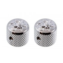 ALLPARTS MK-3151-010 Gotoh Short Engraved Dome Knobs